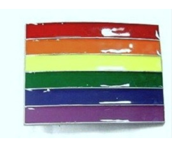 GAY PRIDE FLAG BELT BUCKLE