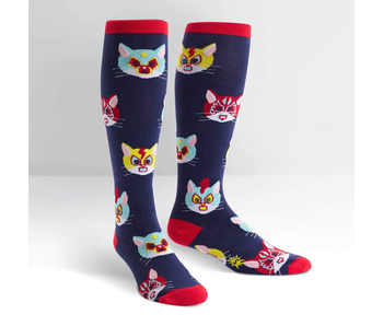 SOCK IT TO ME: STRETCHY KNEE HIGH SOCKS - GATO LIBRE