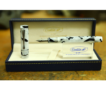 CONKLIN FOUNTAIN PEN OMNIFLEX DAYFLEX BLACK & WHITE MARBLE LIMITED EDITION