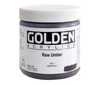 Golden 16oz Raw Umber Heavy Body Series 1