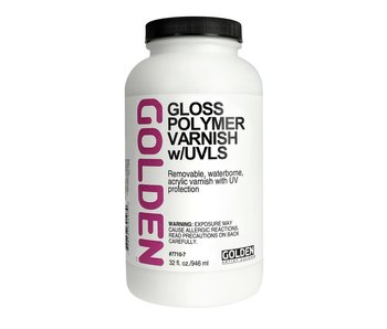 Golden Gloss Polymer Varnish w/UVLS  32oz