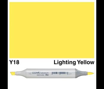 COPIC SKETCH Y18 LIGHTNING YELLOW