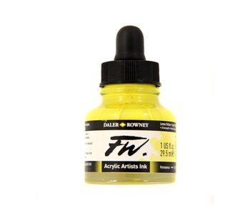 FW ACRYLIC INK LEMON YELLOW 1OZ