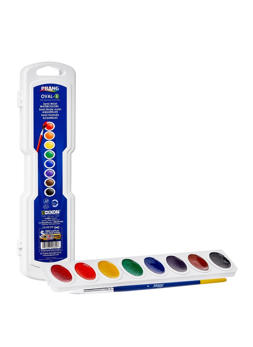 Prang Oval 8 Watercolour Set with a Brush OVL8