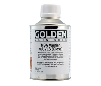 Golden Medium 8oz MSA Varnish W/ UVLS (Gloss)