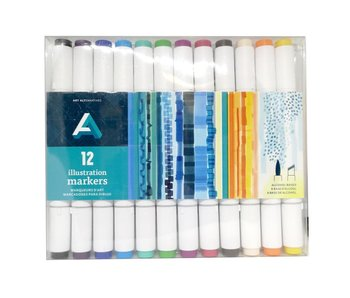AA ILLUSTRATION MARKER 12MARKER SET