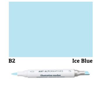 AA ILLUSTRATION MARKER ICE BLUE