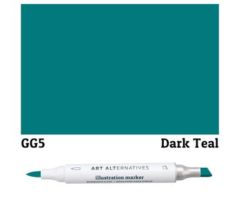AA ILLUSTRATION MARKER DARK TEAL