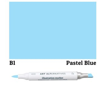 AA ILLUSTRATION MARKER PASTEL BLUE