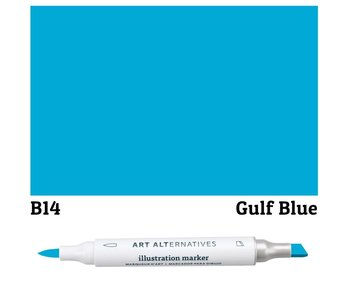 AA ILLUSTRATION MARKER GULF BLUE
