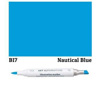 AA ILLUSTRATION MARKER NAUTICAL BLUE