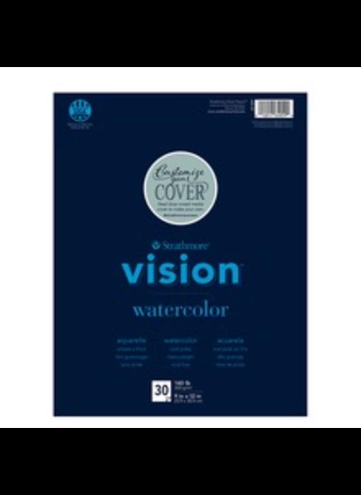 STRATHMORE VISION RECYCLED WATERCOLOR PAD 11x15 140LB 30 sheets per pad