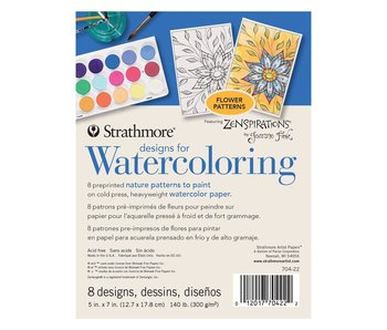 STRATHMORE READY TO PAINT DESIGNS FOR WATERCOLOUR FLOWERS