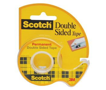 "3M Scotch Double Sided Tape Roll 1/2""X250"""