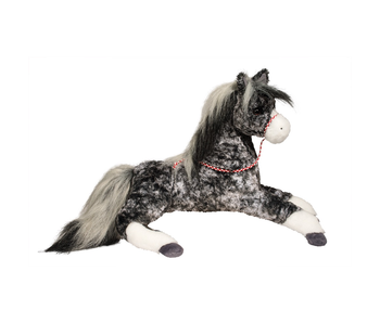 DOUGLAS CUDDLE TOY PLUSH BLACK DAPPLED HORSE MEDIUM