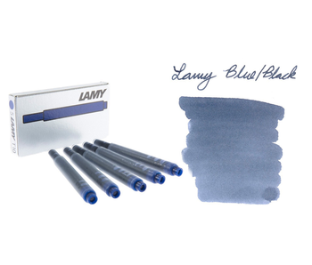 LAMY CALLIGRAPHY INK CARTRIDGE 5PK BLACK BLUE,