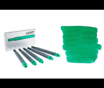LAMY CALLIGRAPHY INK CARTRIDGE 5PK GREEN