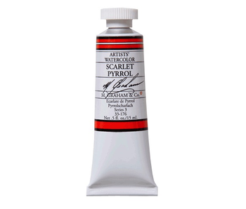 M. GRAHAM WATERCOLOUR 15ML SCARLET PYRROL