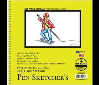 BEE PAPER PEN SKETCHER'S SKETCHBOOK 8.5x8.5 50 SHEETS