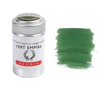 J. Herbin Ink Cartridge 6Pk Vert Empire Green