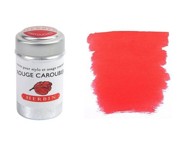 J. Herbin Ink Cartridge 6Pk Rouge Caroubier