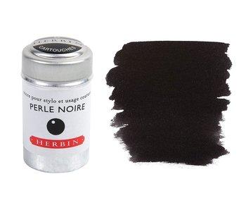 J. Herbin Ink Cartridge 6Pk Perle Noir