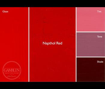GAMBLIN ARTIST'S OIL COLORS 37ML NAPTHOL RED