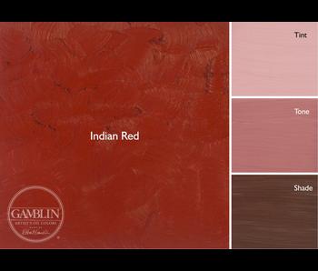 GAMBLIN ARTIST'S OIL COLORS 37ML INDIAN RED