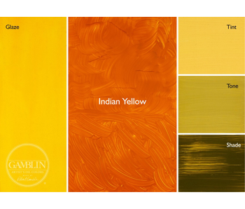 GAMBLIN ARTIST'S OIL COLORS 37ML INDIAN YELLOW