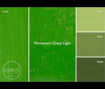 GAMBLIN ARTIST'S OIL COLORS 37ML PERMANENT GREEN LIGHT