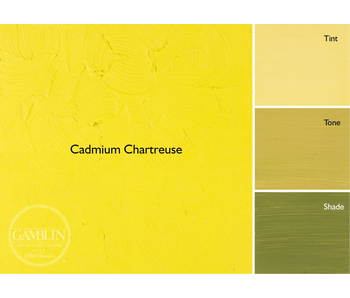 GAMBLIN ARTIST'S OIL COLORS 37ML CADMIUM CHARTREUSE
