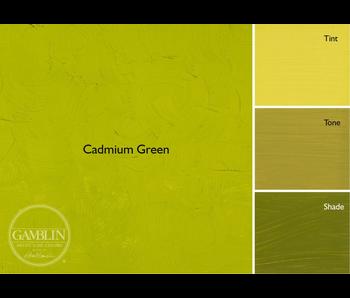 GAMBLIN ARTIST'S OIL COLORS 37ML CADMIUM GREEN