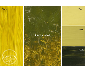 GAMBLIN ARTIST'S OIL COLORS 37ML GREEN GOLD