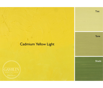 GAMBLIN ARTIST'S OIL COLORS 37ML CADMIUM YELLOW LIGHT