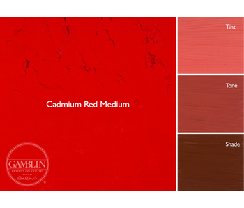 GAMBLIN ARTIST'S OIL COLORS 37ML CADMIUM RED MEDIUM