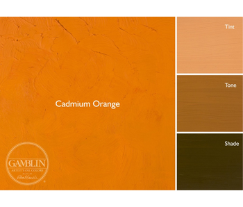 GAMBLIN ARTIST'S OIL COLORS 37ML CADMIUM ORANGE
