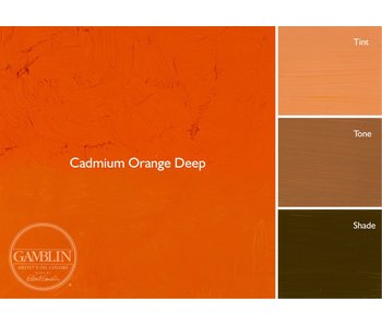 GAMBLIN ARTIST'S OIL COLORS 37ML CADMIUM ORANGE DEEP