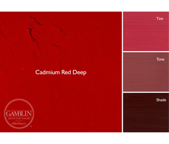 GAMBLIN ARTIST'S OIL COLORS 37ML CADMIUM RED DEEP