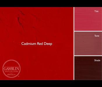GAMBLIN ARTIST'S OIL COLORS 37ML CADMIUM RED DEEP