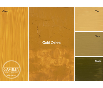 GAMBLIN ARTIST'S OIL COLORS 37ML GOLD OCHRE