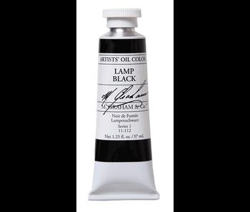 M. GRAHAM ARTIST OIL 37ML LAMP BLACK