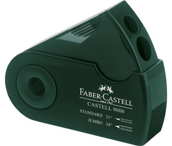 Faber Castell 9000 Two-Hole Sharpener Box Green