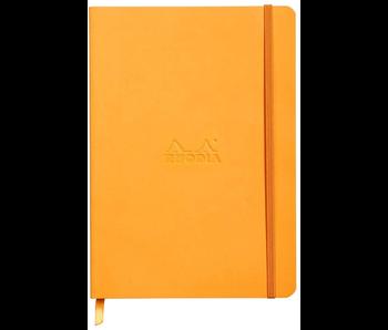 RHODIA RHODIARAMA NOTEBOOK 5.5x8.3 ORANGE LINED Softcover