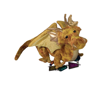 DOUGLAS CUDDLE TOY PLUSH TOPAZ GOLD DRAGON