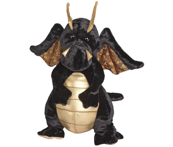DOUGLAS CUDDLE TOY PLUSH MERLIN BLACK/GOLD DRAGON