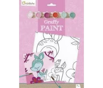 AVENUE MANDARINE GRAFFY PAINT BY NUMBERS: FAWN