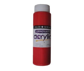 GRADUATE ACRYLIC 500ML CADMIUM RED HUE