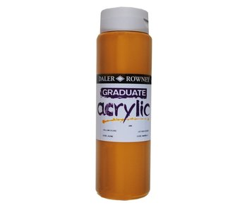 GRADUATE ACRYLIC 500ML YELLOW OCHRE