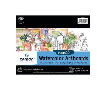 CANSON PLEINAIR WATERCOLOR ARTBOARDS 8x10 10PK