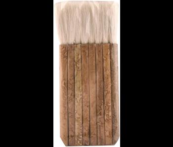 "Yasutomo Hake Multihead Bamboo Brush with Sheep Hair Bristles 2.5"""